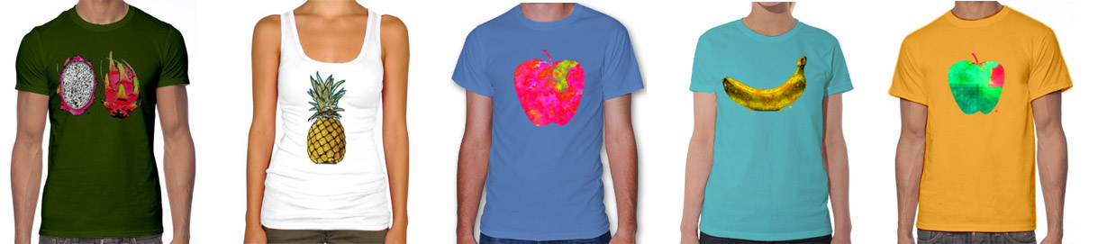 On sunny summer days…create a custom shirt with fruits!