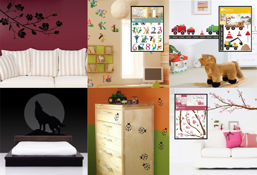 Dare a change with wall decals from Wordans!