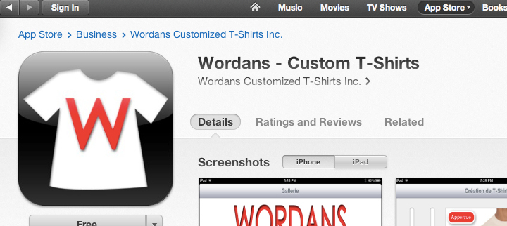 Wordans on Itunes Stores