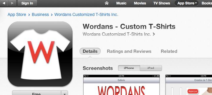 Wordans on Itunes Stores