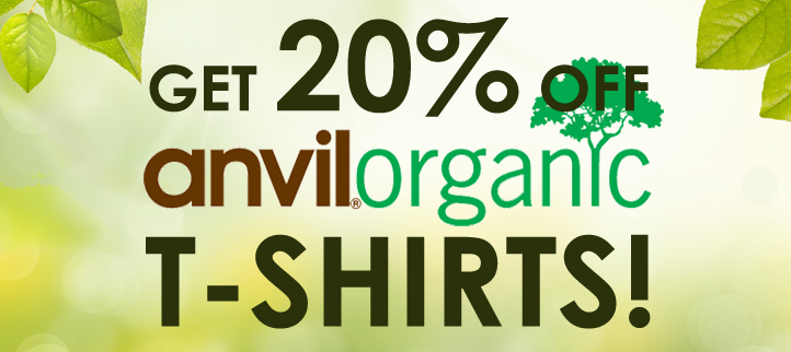 20% OFF Anvil T-Shirts