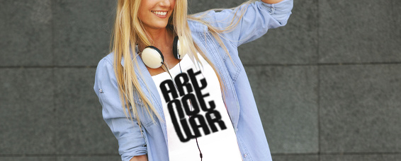 """Art Not War"" T-shirt of the Week"