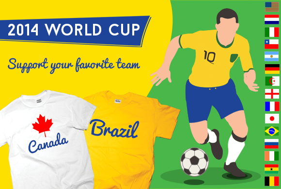 Custom t shirt world cup