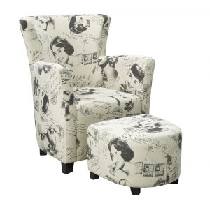 secondly a print chair i am in love with the candace u0026 basil abhay accent chair this gorgeous chair sports a white print on three sides of the chair